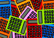 Calculatrices de couleur illustration de vecteur