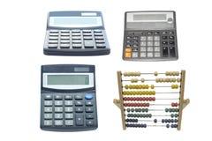 Calculatrices et abaque Photo stock