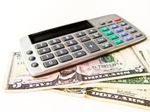 Calcule a despesa do rendimento fotos de stock