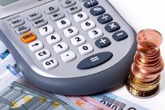 Calcule despesas imagem de stock royalty free