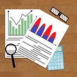 Calcule el pronóstico del crecimiento del negocio stock de ilustración