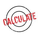 Calcule el sello de goma ilustración del vector