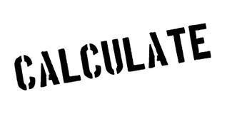 Calcule el sello de goma stock de ilustración