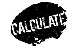 Calcule el sello de goma libre illustration