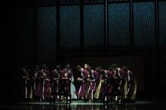 calcule em um ato do ábaco- em segundo de eventos do drama-Shawan da dança do passado foto de stock