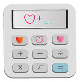 Calcule las herramientas para su corazón stock de ilustración
