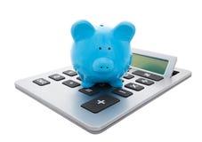 Calcule los ahorros con el camino de recortes Imagen de archivo