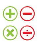 Calcule los iconos del vector stock de ilustración