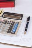 Calcule no livro do calendário imagens de stock royalty free