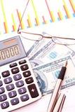 Calcule o dinheiro imagens de stock