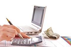 Calcule o dinheiro imagens de stock royalty free