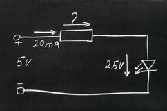 Calcule o resistor imagens de stock royalty free