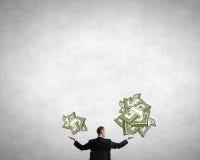 Calcule sua renda de dinheiro foto de stock royalty free