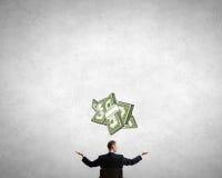 Calcule sua renda de dinheiro imagem de stock