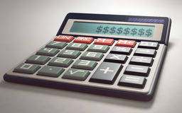 Calculez les profits et les pertes d'argent image libre de droits