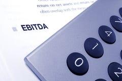 Calculs d'Editda Image stock