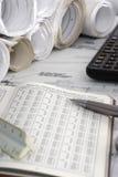Calculs d'ingénierie Images stock
