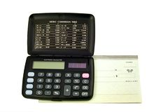 Calculs de budget Photographie stock