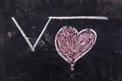 Calculs de l'amour Image libre de droits