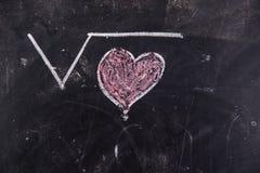 Calculs de l'amour Photos stock