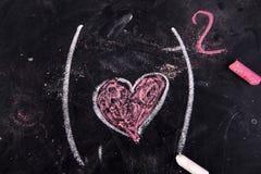 Calculs de l'amour Photo stock