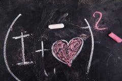 Calculs de l'amour Images libres de droits