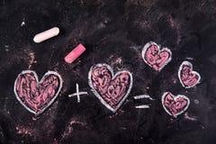 Calculs de l'amour Image stock
