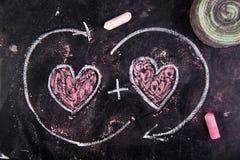Calculs de l'amour Images stock