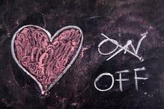 Calculs de l'amour Photos libres de droits