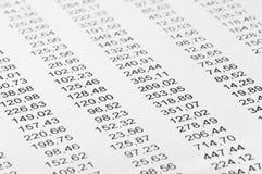 Calculs financiers Photos stock