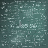 Calculus law theory and mathematical formula equation, doodle ha Royalty Free Stock Photos