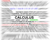 Calculus newtons equation concept. Radial blurr Stock Image