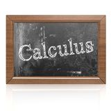 Calculus written on blackboard Stock Photos