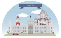 Calcutta, la India ilustración del vector