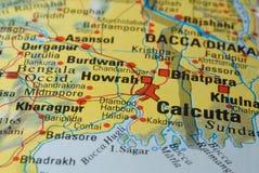 Calcutta road map Stock Photo