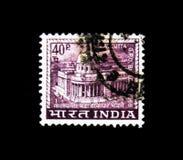 Calcutta urzędu pocztowego Uroczysty budynek, krajów motywów seria około 1968, Fotografia Stock