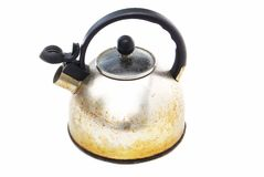 Caldaia arrugginita del kettlegrunge arrugginito di Grunge fotografie stock libere da diritti