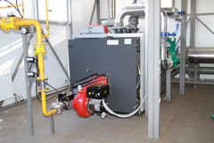 Caldaia-casa moderna del gas di ciao-tecnologia Immagine Stock