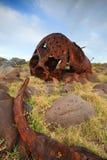 Caldaia d'arrugginimento di vecchio naufragio ss Monaro Fotografia Stock