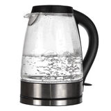 Caldaia di tè con acqua di ebollizione Immagine Stock Libera da Diritti