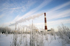 Caldaia di Ube nell'inverno Fotografie Stock Libere da Diritti