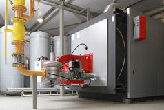 Caldaia a gas industriale Fotografia Stock