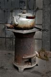 Caldaia sul forno Fotografie Stock