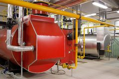 Caldaie di gas Immagine Stock