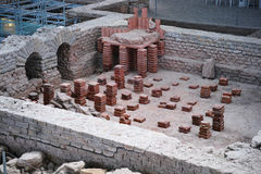 Caldarium archaeological excavation Royalty Free Stock Photos