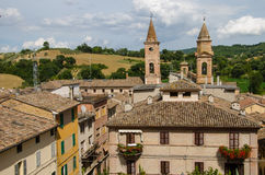 Caldarola medieval little town in Italy Royalty Free Stock Photography
