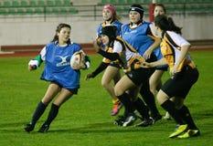 Caldas Rugby Clube (PRT) und Trillium-Tiger (KÖNNEN Sie) Lizenzfreie Stockfotos