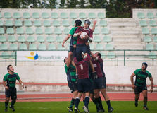 Caldas Rugby Clube VS Clube Rugby de Evora Stock Image