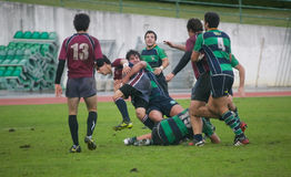 Caldas Rugby Clube VS Clube Rugby de Evora Stock Images