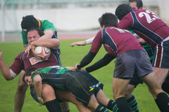 Caldas Rugby Clube VS Clube Rugby de Evora Stock Photo